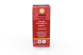 Ajurwedyjski olejek do twarzy i ciała z hibiskusem Khadi 10 ml