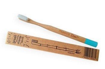 Bambusowa szczoteczka do zębów Mohani - turkusowa, włosie miękkie