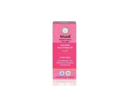 Ajurwedyjski olejek do twarzy i ciała z różą Khadi 10 ml