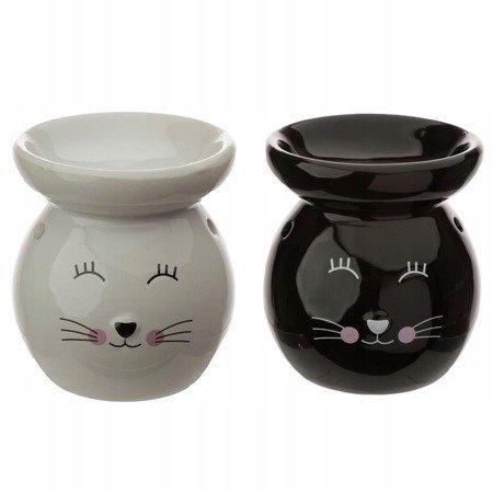 Ceramic Cat Oil Burner/czarny