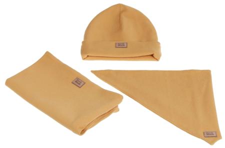 Komplet czapka chusta i komin: SŁONECZNY UŚMIECH