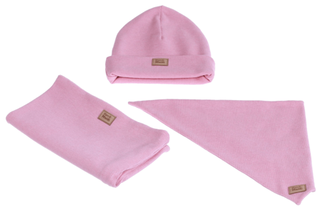 Komplet czapka chusta i komin: WATA CUKROWA
