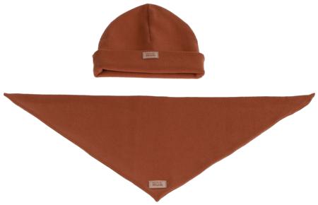Komplet czapka i chusta: CYNAMONEK
