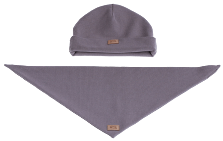 Komplet czapka i chusta: PIÓRKO