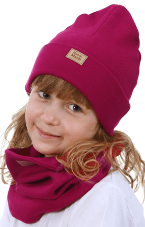 Komplet czapka i komin: RUBINEK