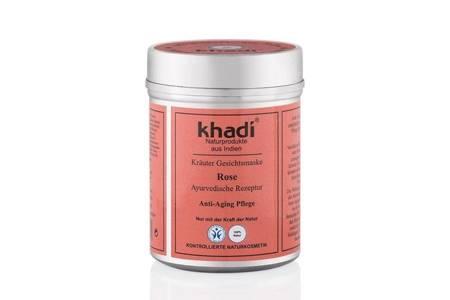 Różana maseczka do twarzy Khadi